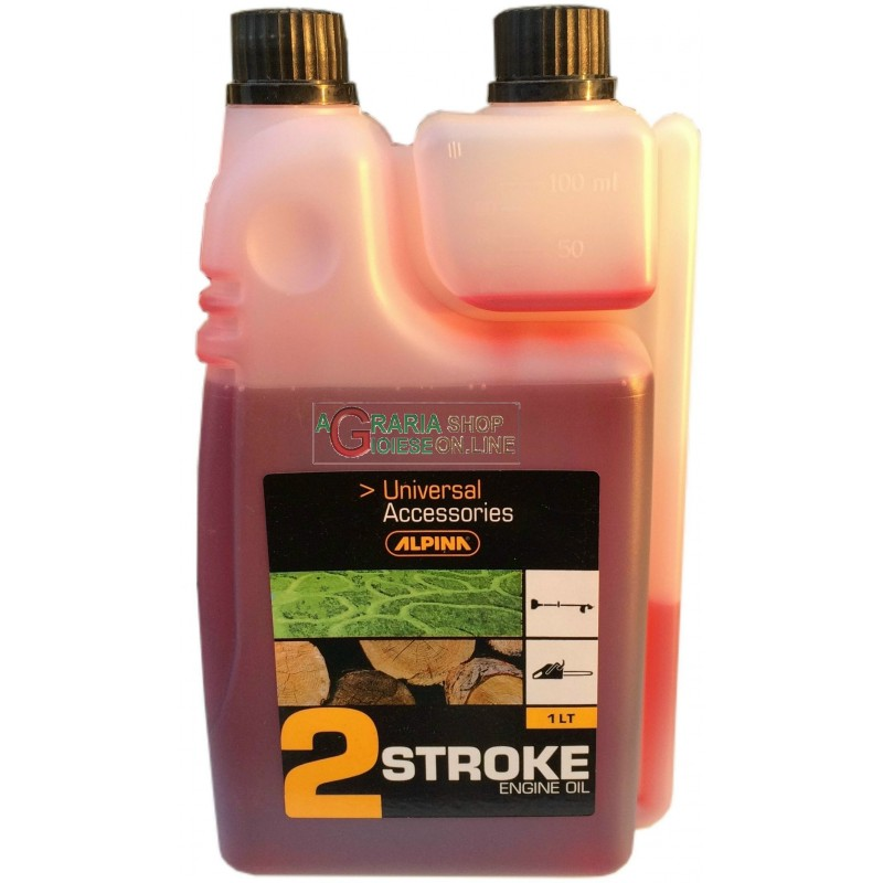 TWO-STROKE SYNTHETIC OIL FOR MIX CHAINSAWS BRUSHCUTTERS ALPINA