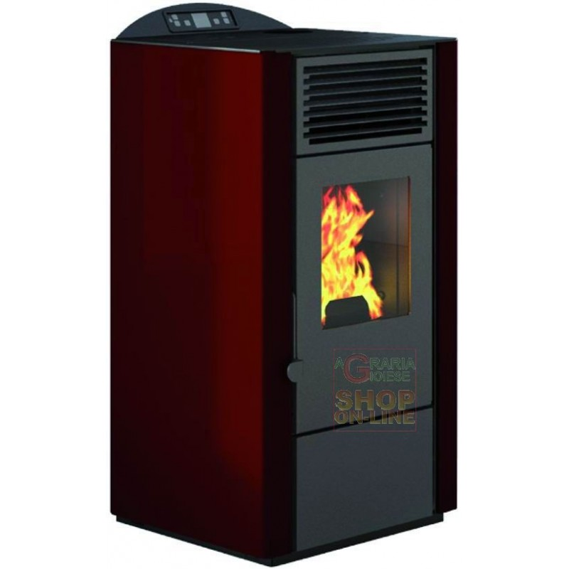 PELLET STOVE FIRE POINT LORY-10 KW. 9.0 RED COLOR