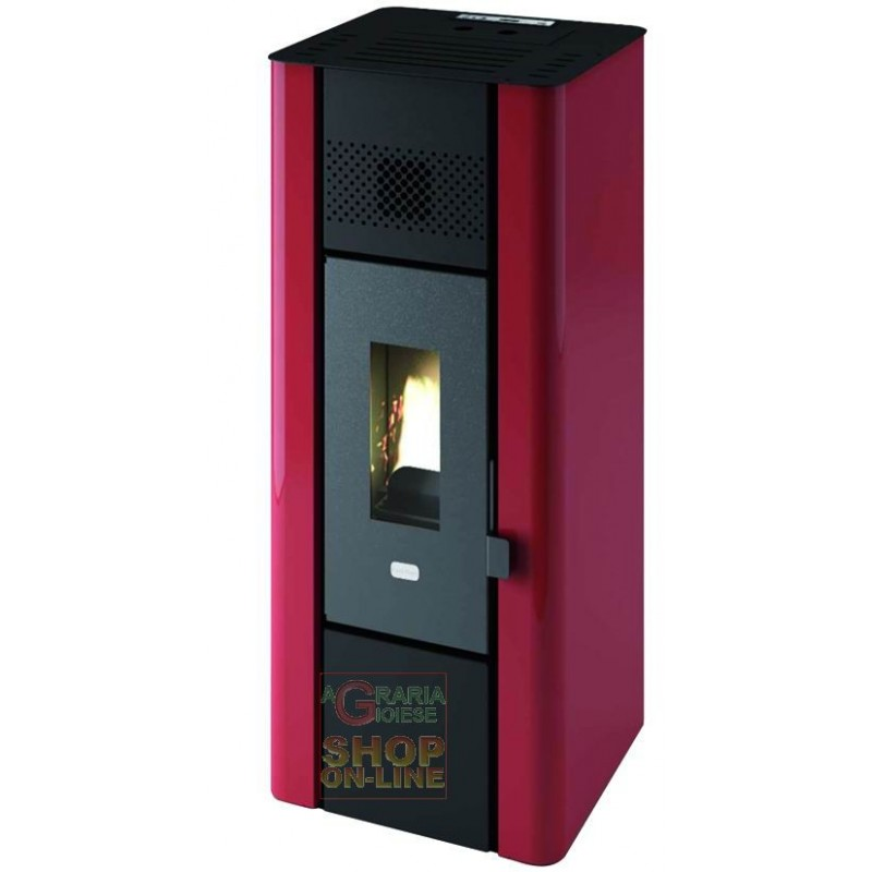PELLET STOVE MINIMUM FIRE POINT KW 6.3 (BR) RED