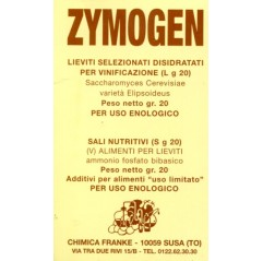 ZYMOGEN SELECTED YEAST FOR VINIFICATION GR. 20