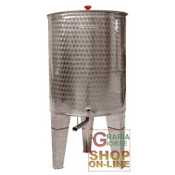 CORDIVARI STAINLESS STEEL CONTAINER WITH CONICAL BOTTOM LT. 200