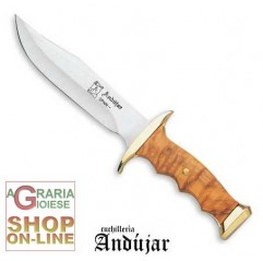 ANDUJAR BOWIE STAINLESS STEEL BLADE CM. 17 OLIVE HANDLE CS A0632